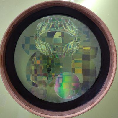 CORALES LÍQUIDOS 3. 2018. 26 cm. Acrílico, acetato y resina epoxi, retroiluminación leds