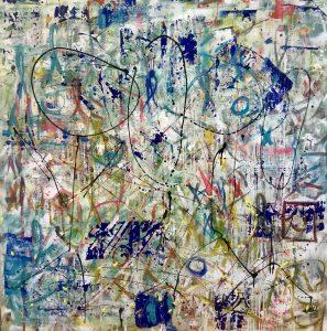Street Art Avenue B V. Acrylic on canvas. 180 x200 cm. 2018