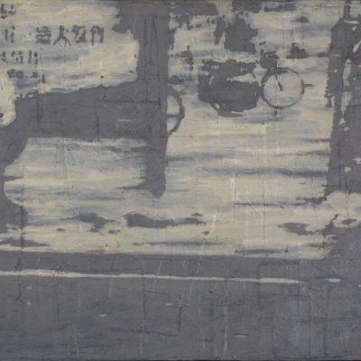 Calle de GuangDong, 2018. Oleo sobre tela. 39x 62 cm.